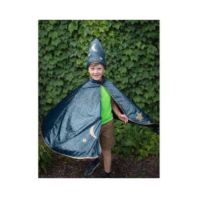 Great Pretenders Starry Night Wizard Cape & Hat, Size 5-6