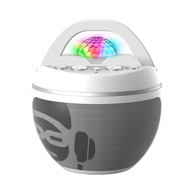 iDance Party Ball with 2 Microphones - White