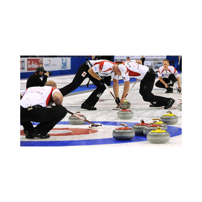 Curling Canada 2-in-1 Wood Playing Board