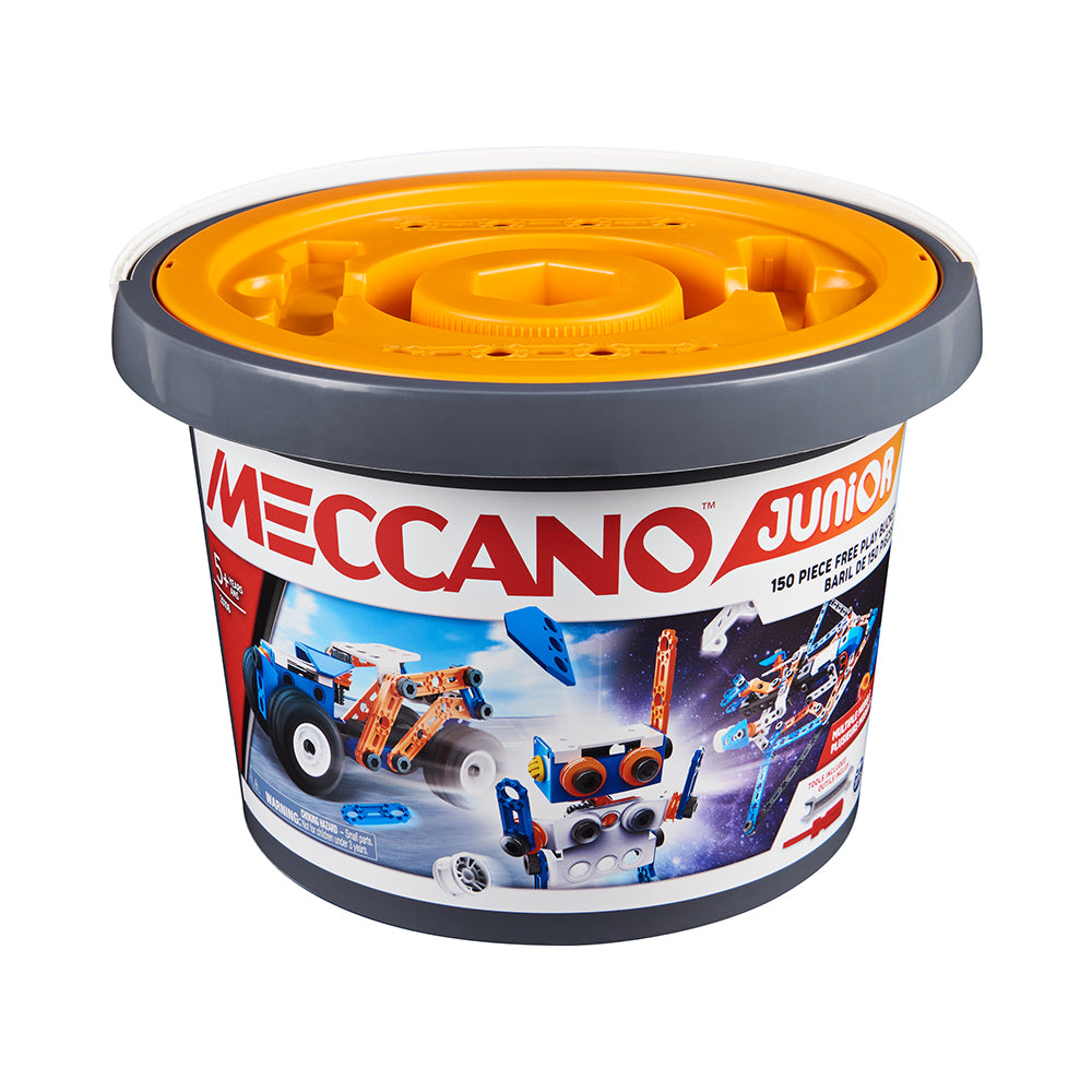 Meccano Junior 150 Piece Free Play Bucket