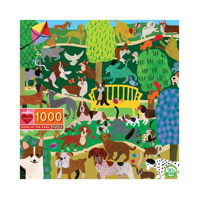 eeBoo Dogs in the Park 1000pc Puzzle