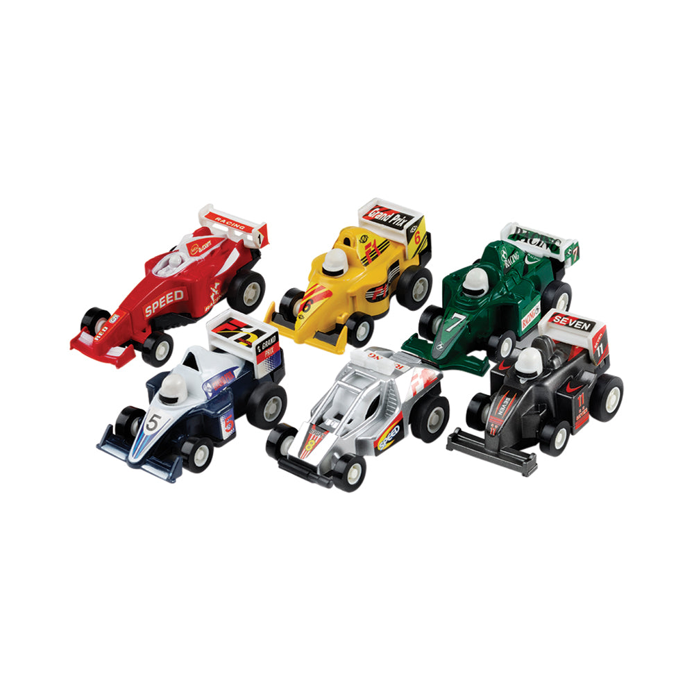 Mini Pull Back Racers 6pk