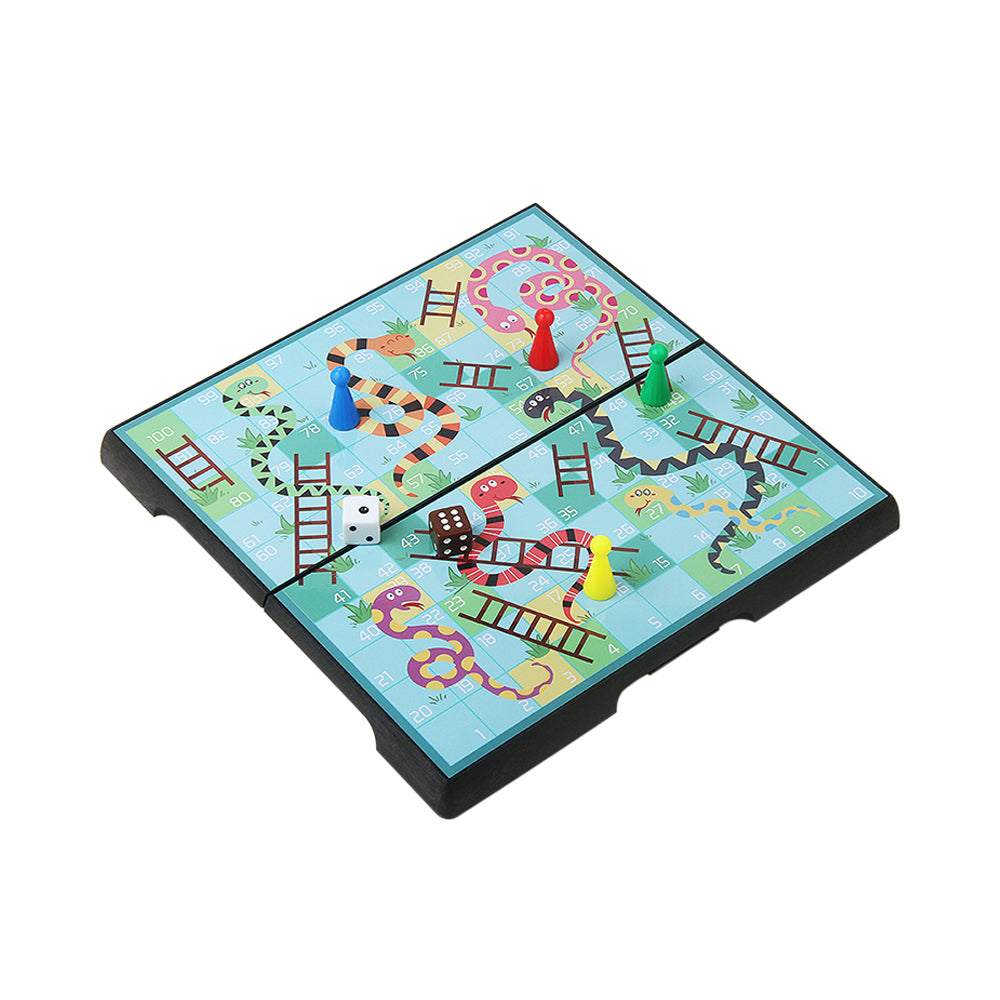 Magnetic Folding Snakes & Ladders Game