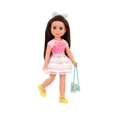 "Glitter Girls Shiny Flowers in Bloom 14"" Regular Outfit"
