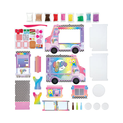 Fashion Angels 100% Extra Small Food Truck DIY Air-Dry Clay Kit