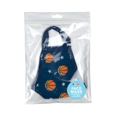 Basketball and Stars Face Mask Children's Size