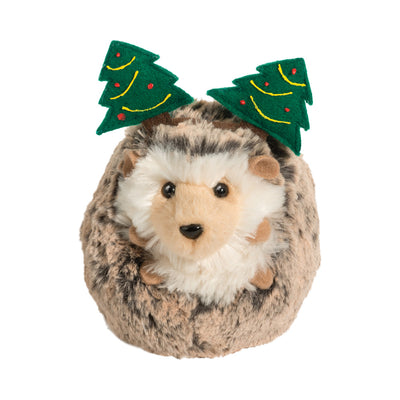 Douglas Spunky Hedgehog with Christmas Tree Headband