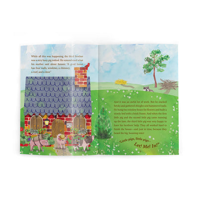 The Three Little Pigs Book and Playset