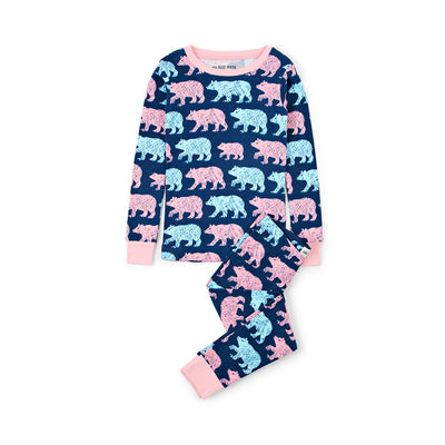 Little Blue House Cottage Bears Kids Pajama Set