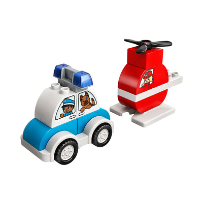 LEGO® DUPLO Fire Helicopter & Police Car