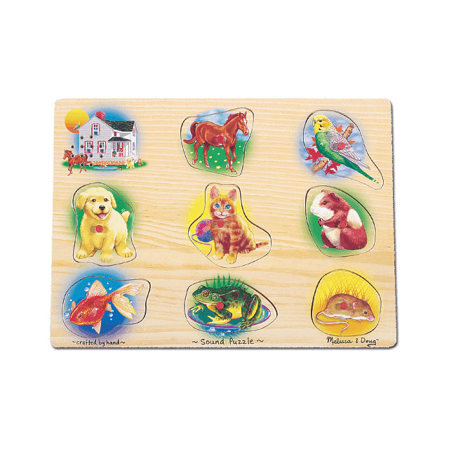 Melissa & Doug Pets Peg Puzzle with Sound