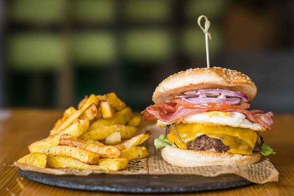 Egg Bacon Cheese Burger  300g