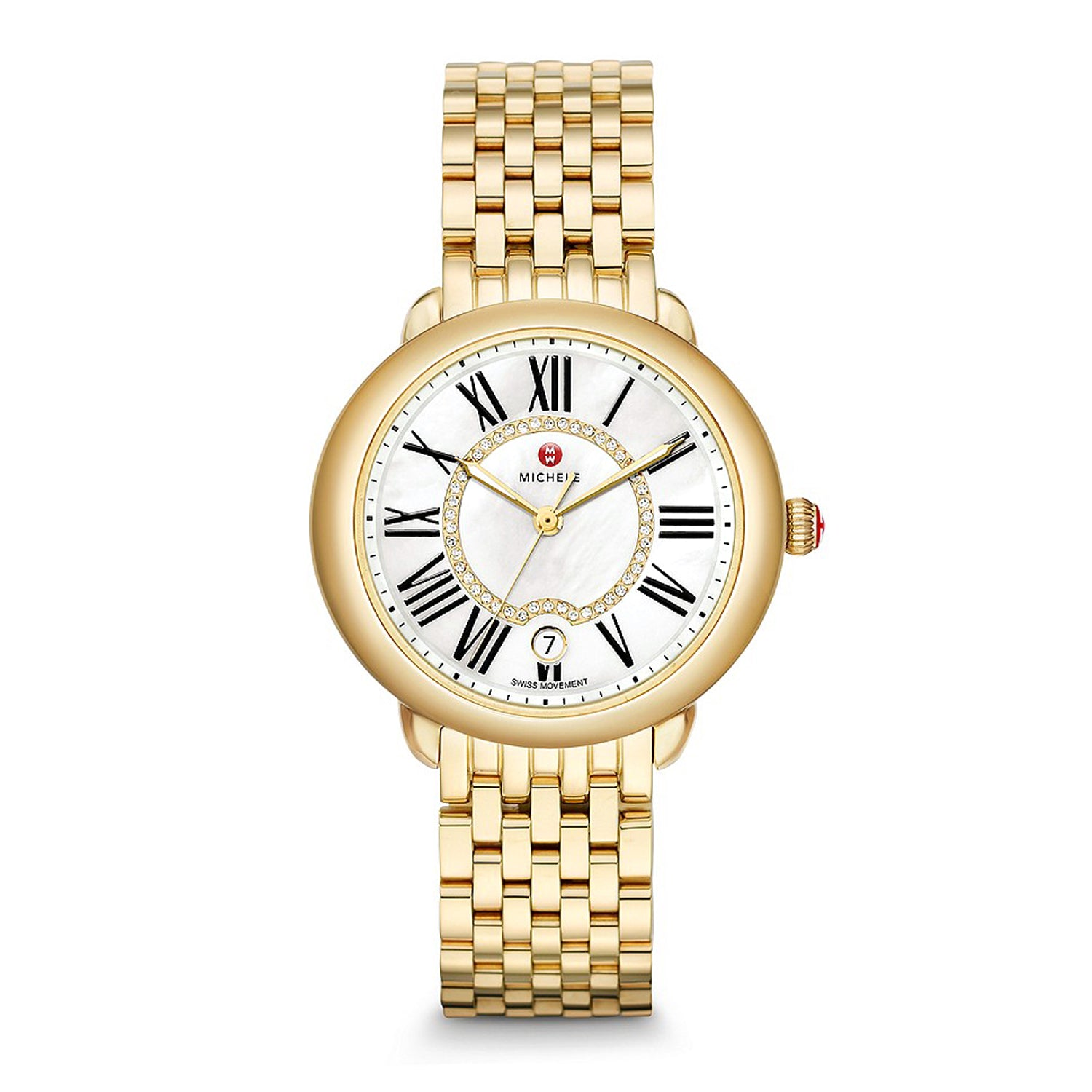 MICHELE Serein Mid 18K Gold Diamond Dial Watch