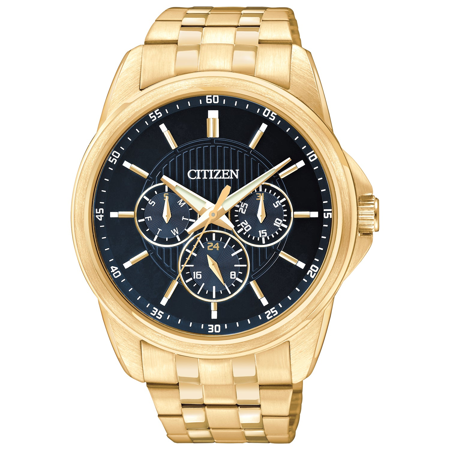 Citizen MENS GOLD TONE STAINLESS STEEL CHRONOGRAPH WATCH
