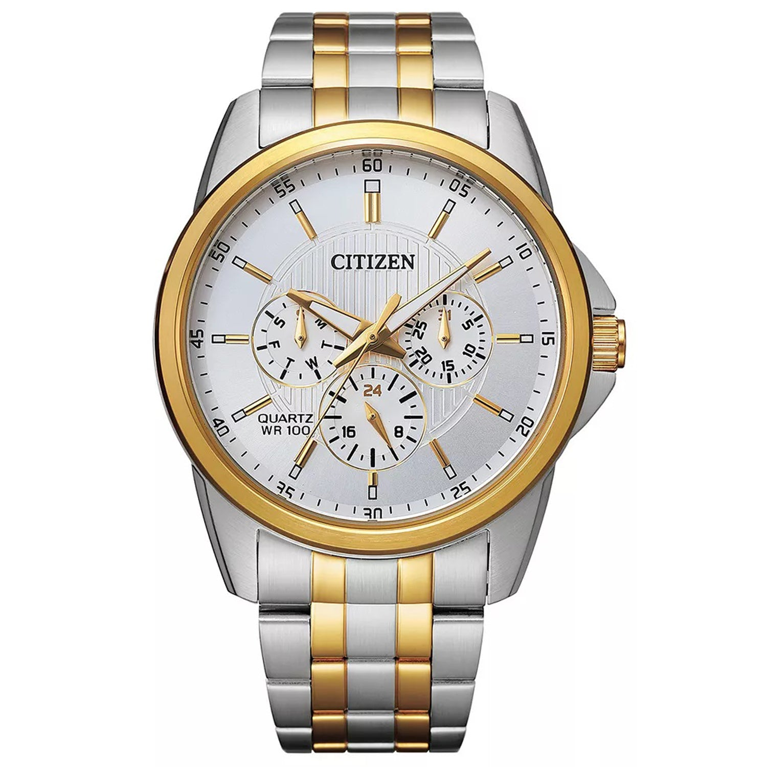 Citizen MENS TWO TONE STAINLESS STEEL CHRONOGRAPH WATCH
