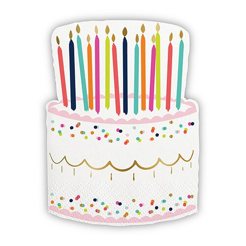 Birthday Cake Die Cut Napkin