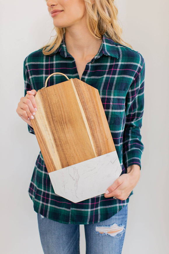 Square Edge Rectangle Serving Board