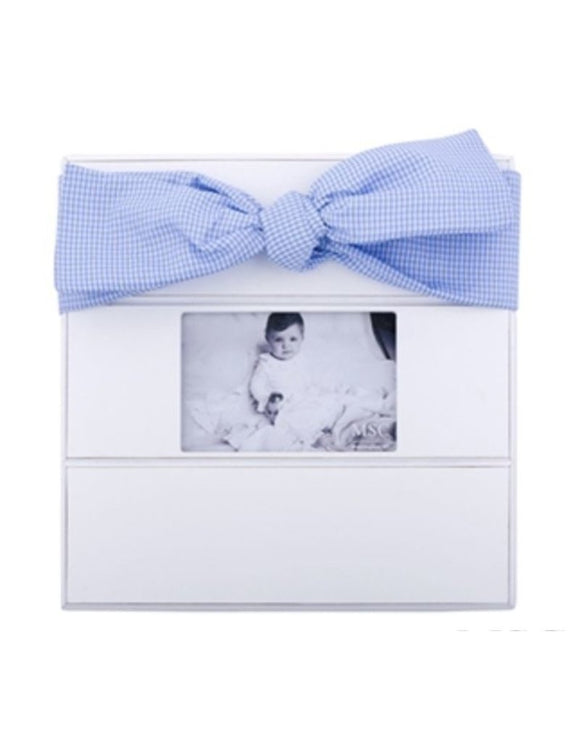Lt Blue Gingham Bow Frame