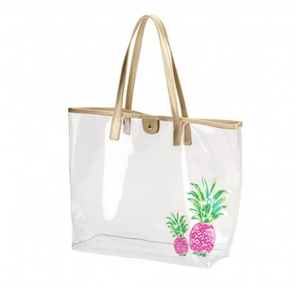 Pineapple Retreat Clear Purse