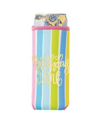 Beverage Sleeve Skinny Birthday Girl