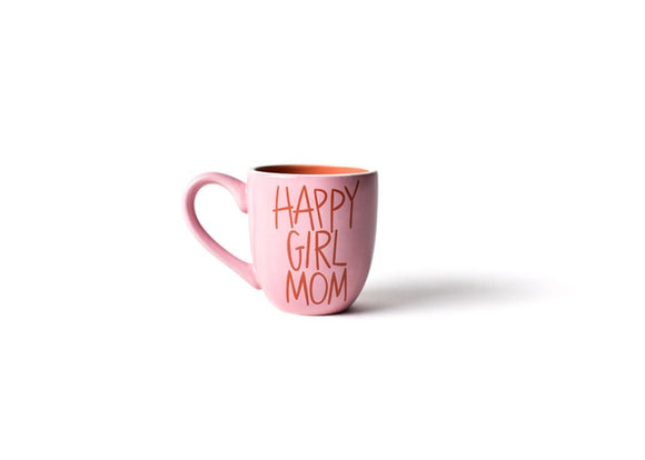 Happy Girl Mom Mug Pink