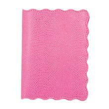 Pink Lizard Scallop Passport Holder