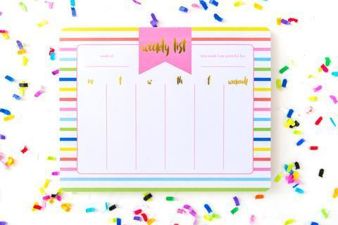 Striped Weekly Planner