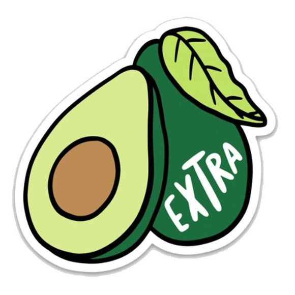 Avocado Extra Sticker