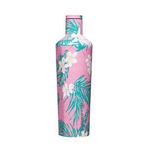 25oz Canteen Vineyard Vines Pink Tropical Floral
