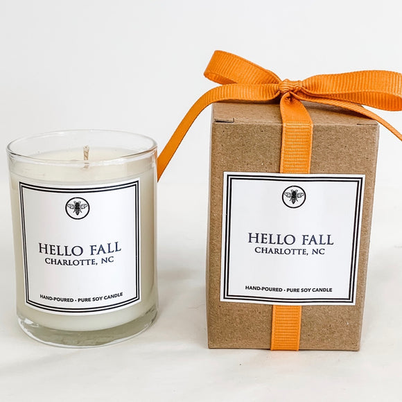 Hello Fall Votive Candle