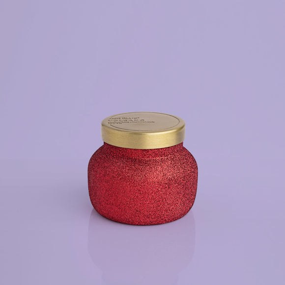 8 oz. Red Glitter Volcano Candle