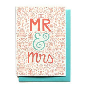 Wedding Card - Mr & Mrs:
