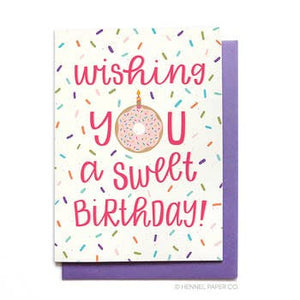 Birthday Card - Sweet Birthday (Donut)
