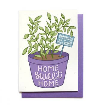 Housewarming Card - Houseplant