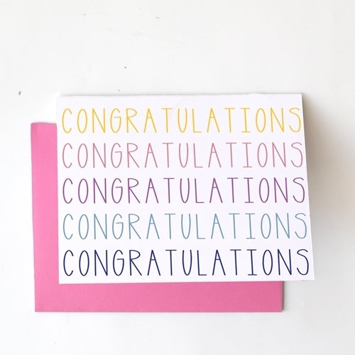 Greeting Card - Congrats Rainbow