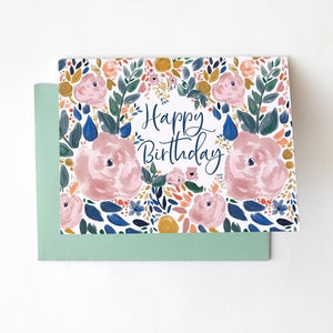 Greeting Card - HBD Autumn Blossom