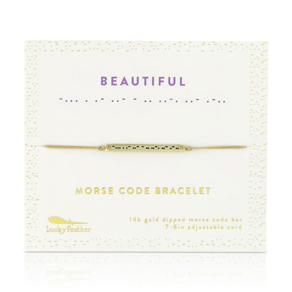 Beautiful Morse Code Bracelet