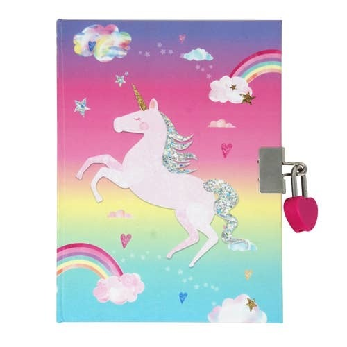 Unicorn Scented Lockable Diary