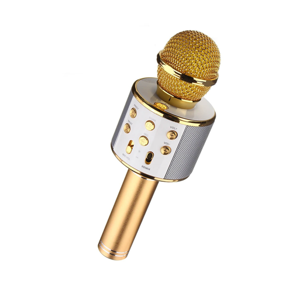 Gold Wireless Bluetooth Microphone