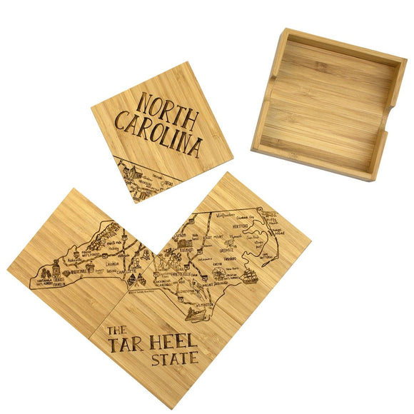 NC Puzzle Coaster Set with Case