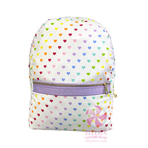 Tiny Hearts Medium Seersucker Backpack
