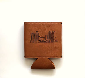 Charlotte Leather-Like Koozie
