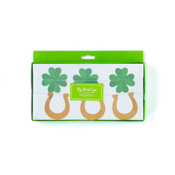 Shamrock and Horseshoe Banner Set