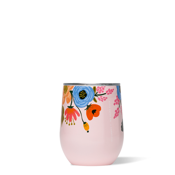 Rifle Paper Stemless - 12oz Gloss Blush -  Lively Floral