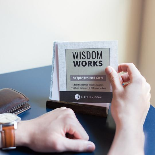 Mens Scripture Cards W/ Wooden Stand