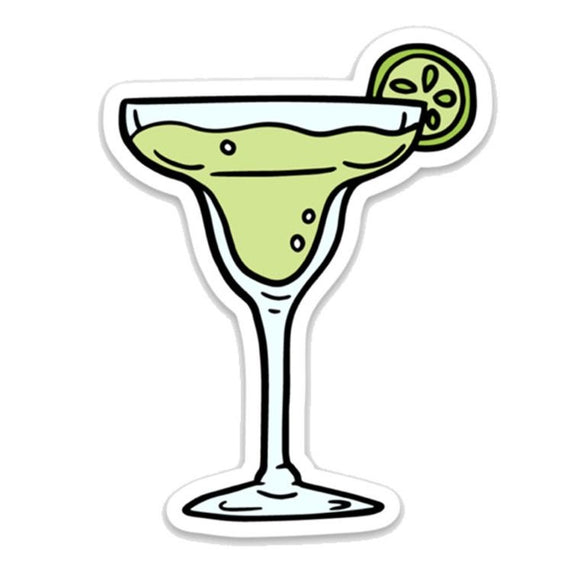 Margarita Glass Sticker