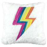 Lightning Bolt Holographic Pillow