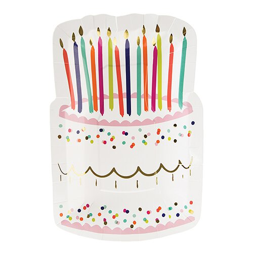 Birthday Cake Die Cut Plate