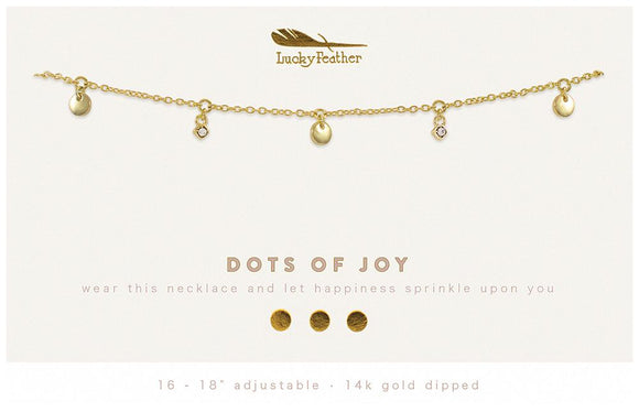 Dangle Necklace Gold - DOTS OF JOY