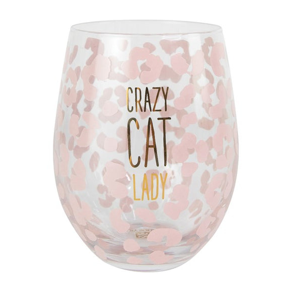 Crazy Cat Lady Wine Glass